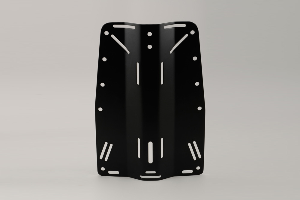 BC1034R BLK Aluminun Anodized Back Plate